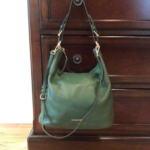 Michael Kors dark green hobo bag